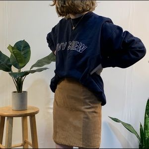 Vintage Ivy Crew Oversized Sweatshirt Pullover